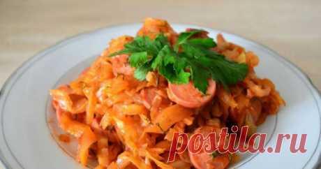 Тушеная капуста с сосисками: пошаговые рецепты с фото для легкого приготовления 🚩 Кулинарные рецепты