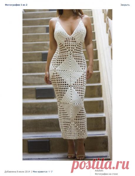 платье из квадратов