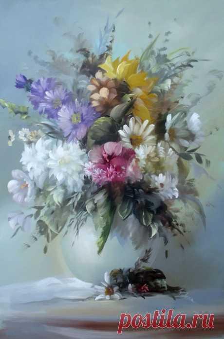 Живописные букеты цветов