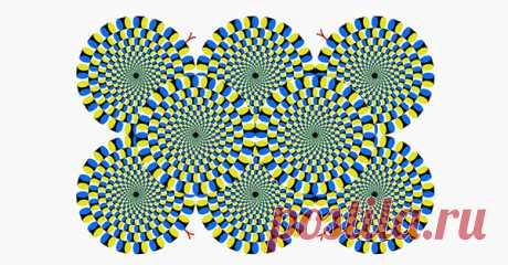 Эту иллюзию изобрел японский психиатр Акиоши Китаока. Он утверждает, что иллюзия неподвижна для спокойных, уравновешенных и отдохнувших людей. Если же иллюзия активно движется, то вам нужен отдых и сон в течение 8 часов. Ну, а если же иллюзия очень быстро движется, то вам срочно нужен… отдых в лечебно-профилактическом учреждении. Сверимся, и если что – не забываем про отдых!