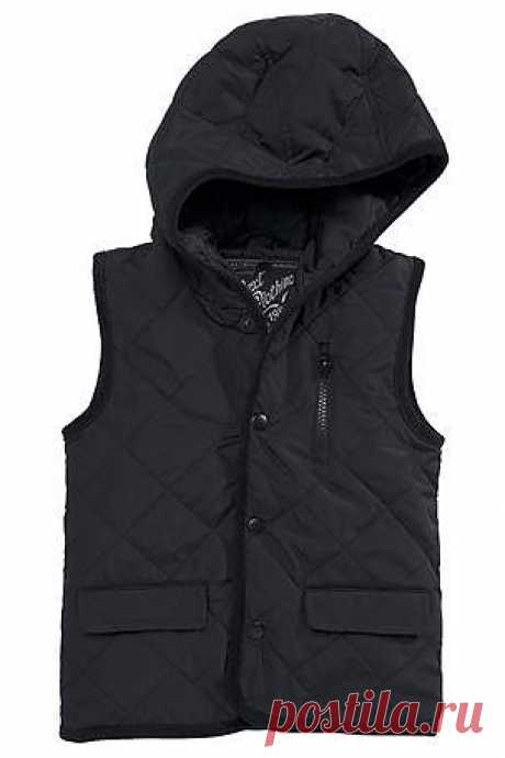 Buy Black Hooded Quilted Gilet (3mths-6yrs) from the Next UK online shop