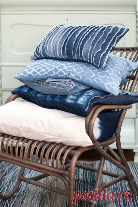 Как использовать джинсовую ткань в домашнем декоре
