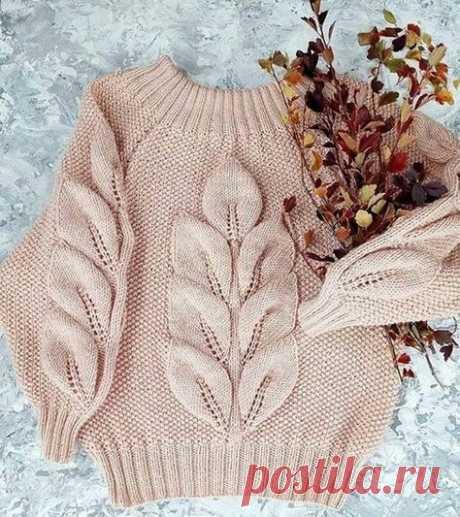 Объемный узор - отличная идея для стильного пуловера!