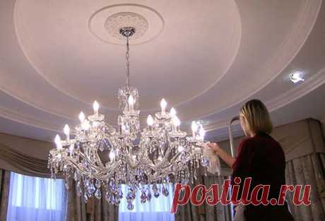 How to wash a suspended chandelier? | Interior and Design of your house