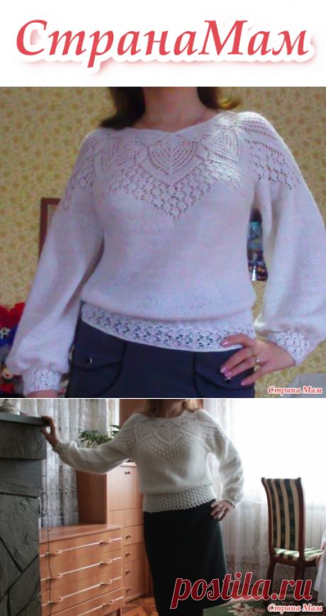 Ажурная кофточка по мотивам ажурной блузы от от Lene Holme Samsoe