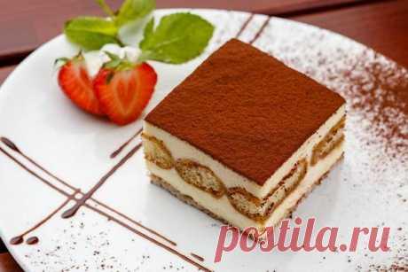 Классический тирамису с печеньем без выпечки — Sloosh – кулинарные рецепты