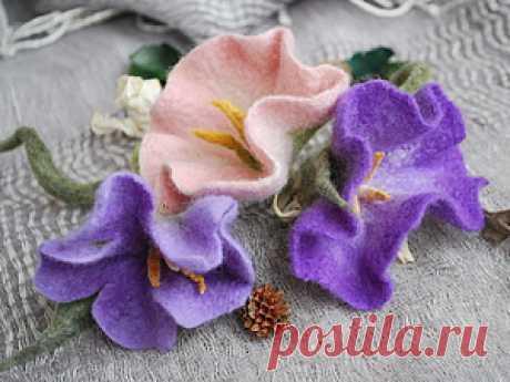 Мастер-класс по валянию цветка «Вьюнок» Представляю вам мастер-класс по цветку, напоминающий вьюнок. Этот мастер-класс подходит для способных начинающих и для продолжающих валять. Для начала нужно подготовить необходимые материалы: - шерсть для валяния – гребенная лента (меринос) 4-5 цветов (у меня: фиолетовый, белый, зеленый, салатовый, желтый); - пупырка (пупурчатый коврик);- вода;- мыло;- игла для валяния (тонкая или средняя);-…