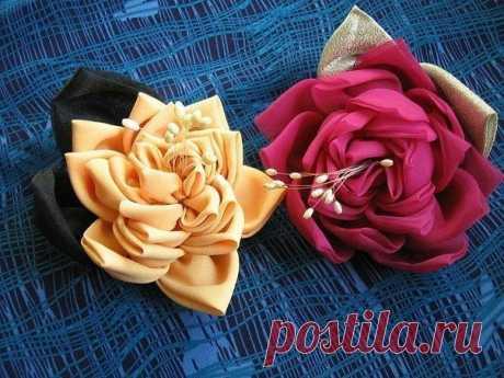 Чудесные розы из ткани — Сделай сам, идеи для творчества - DIY Ideas