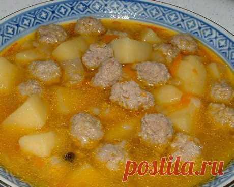Картофельный суп с фрикадельками | Про рецептики - лучшие кулинарные рецепты для Вас!