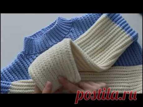 Свитер крючком. Мастер-класс. Crochet sweater.