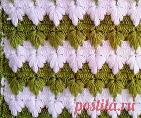 Pattern with the extended loops for knitting by a hook