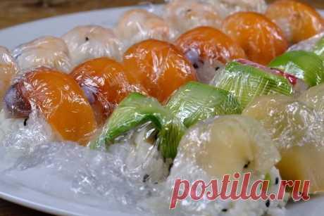 Ленивые суши в формочках для льда свомим руками