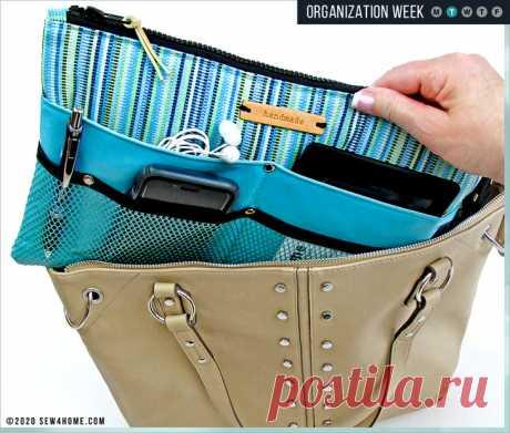 10-Pocket Purse Organizer | Sew4Home