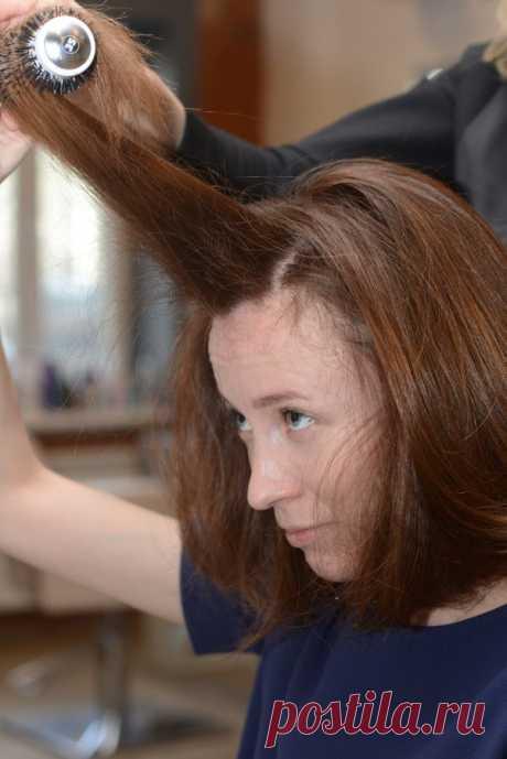 Укладка волос феном и щеткой: мастер-класс