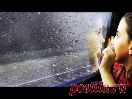 Дождь из окна поезда. #ШумДождя и #звукПоезда