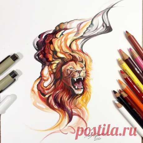 Яркие львы!