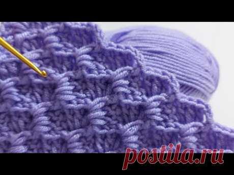 легкие схемы вязания детского одеяла крючком для начинающих / схемы вязания одеяла крючком