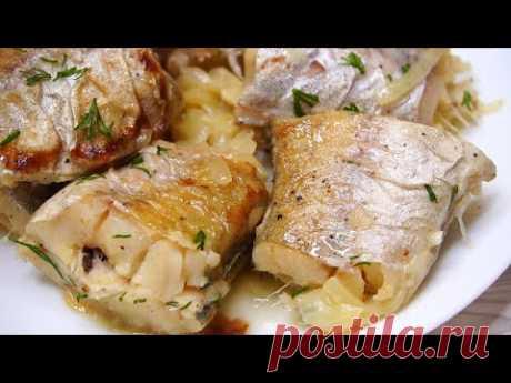 Кулинария>Когда Лень стоять у плиты и отмывать брызги, Жарю Рыбу так! Очень сочно и вкусно!