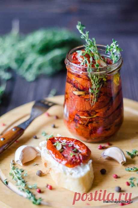 Вяленые помидоры в духовке • домашний рецепт. С фото! Вяленые помидоры — очень вкусная и необычная закуска, но в России они появились не так давно, - наши бабушки и мамы были с ними не знакомы.