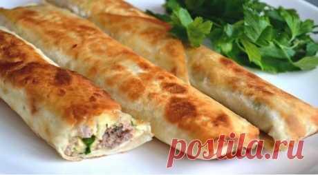 Легкие рецепты в Instagram: «Вкусный лаваш с начинкой в духовке. Ингредиенты: -мясной фарш 200 г -сыр твердый 50 г -лаваш тонкий 1 шт. -перец сладкий болгарский 1/2…»