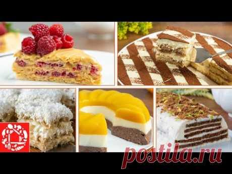 5 тортов без Выпечки и без Желатина! Очень просто и вкусно!