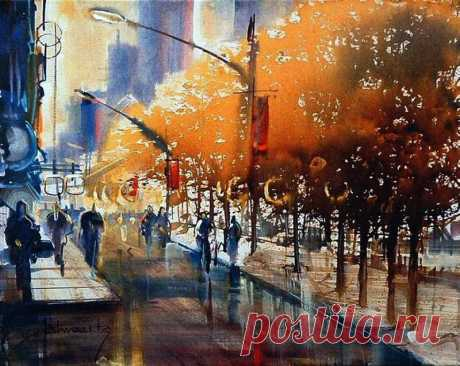 Игра цвета и света. Чудо акварели / Roland Palmaerts.