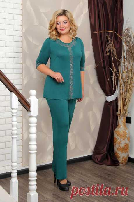 КОСТЮМ 060.15.2 блуза+ брюки: купить по цене от 1 270 руб. в интернет-магазине Знатная Дама