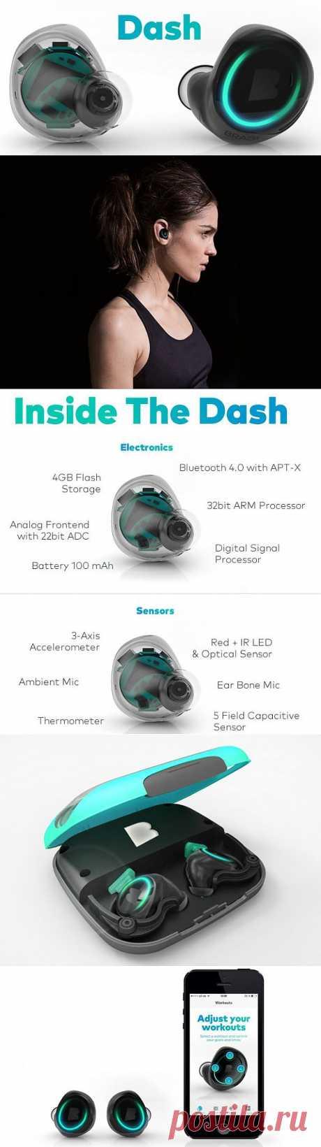 «Умные» наушники Dash заменят аудиоплеер и фитнес-трекер | MyPhone. C гаджетом по жизни!