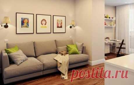 Комнаты в типовой двушке в панельном доме серии КОПЭ достаточно большие – места хватит даже на две спальни и гостиную. Но при этом все функциональные изменения в квартире можно реализовать только при помощи мебели