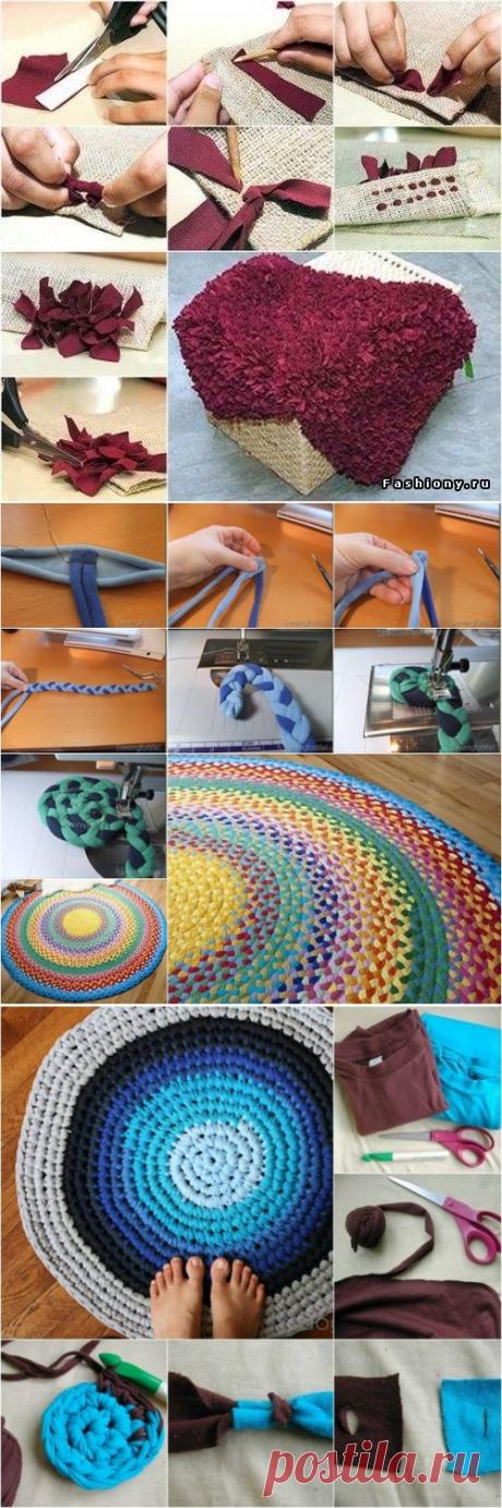 Варианты ковриков из ненужного трикотажа: мастер-классы — Сделай сам, идеи для творчества - DIY Ideas