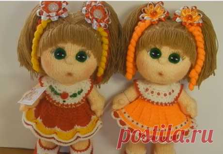 Knitting of a doll, the master - a class from ELENA TKACHYOVOY