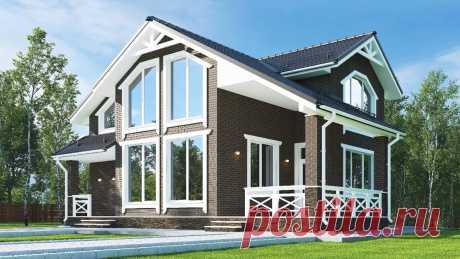 Заказчица решила построить вот такой дом по ВОЕННОЙ ИПОТЕКЕ в ВИКТОРИАНСКОМ СТИЛЕ для пожилых родителей