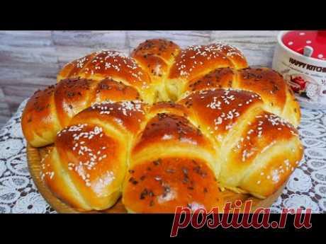 Пирог с фаршем и сыром. ВКУСНЫЙ и ПЫШНЫЙ дрожжевой пирог. Красивая домашняя выпечка