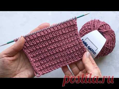Простой универсальный узор спицами на основе резинки 1 на 1 для шапок, кардиганов, свитеров, жилетов