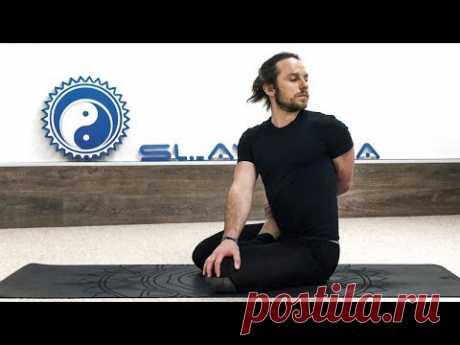 Как сесть в позу лотоса 🧘 Комплекс йоги для освоения падмасаны 🚊 EXPRESS YOGA 2 ⭐ SLAVYOGA