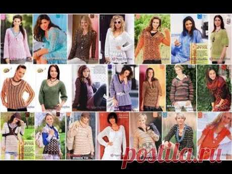 Пуловер женский крючком *❤️️ ЧУДО-КЛУБОК.рУ ➲ официальный сайт вязания ✶