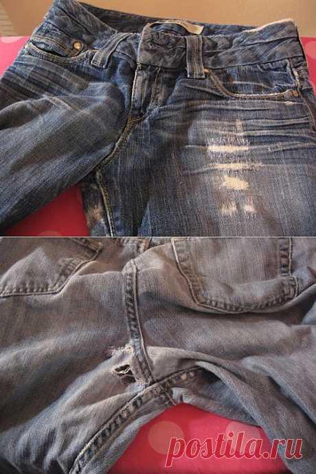 Как заделать дырку на джинсах | My Milady