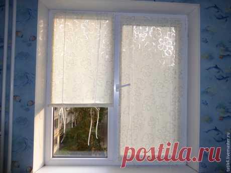 Неплохой МК - как сделать шторку на окно от палящего солнца - на липучке