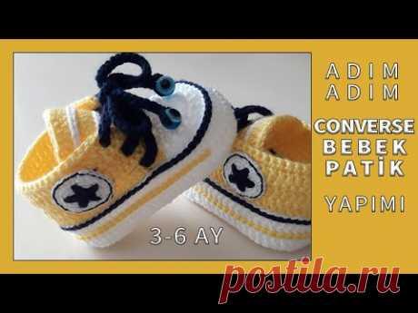 Converse Bebek Patik Yapımı | Detaylı Anlatım Tam Ölçü | Taban 10,5 cm | 3-6 Ay