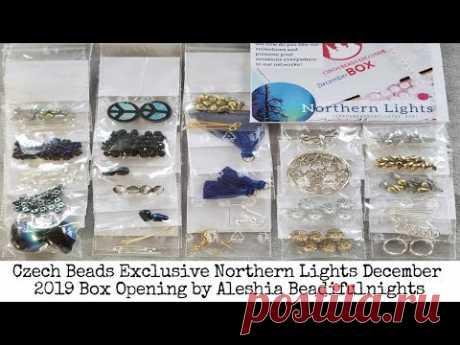 Czech Beads Exlcusive Northern Lights December 2019 Box Opening