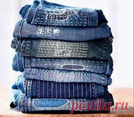 Любимые джинсы еще послужат. Штопка джинсов.