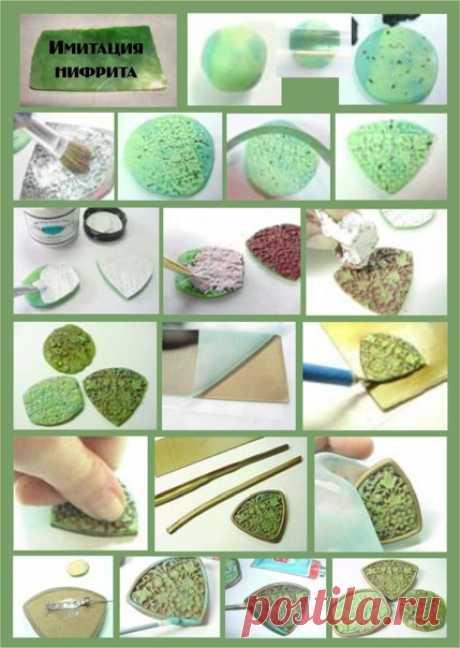 Фото уроки. Имитация камней.  #полимернаяглина #лепкаизполимернойглины