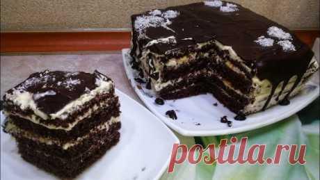 Бомбический Домашний торт за 30 минут! С КАЖДЫМ РАЗОМ ВЛЮБЛЯЮСЬ в него все больше!