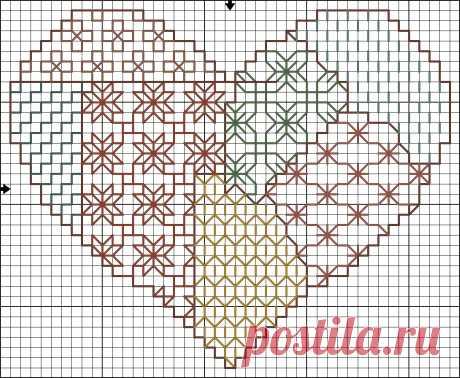 вышивка крестом сердце из бабочек: 19 тыс изображений найдено в Яндекс.Картинках