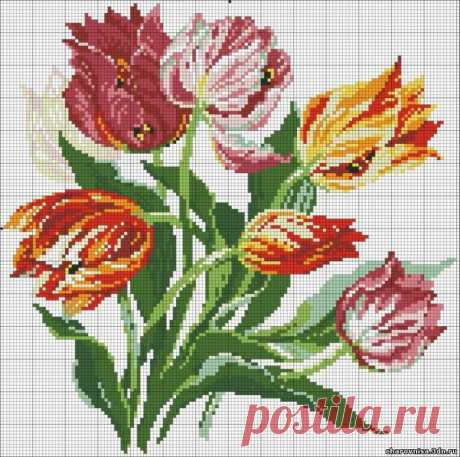 The embroidered flowers