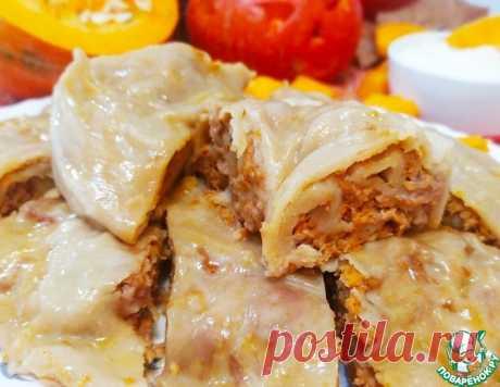 Ханум из тыквы и мяса – кулинарный рецепт