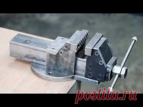 How To Make A Bench Vise    DIY Metal Bench Vise Without Welding
