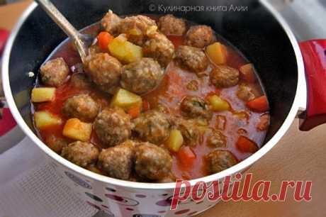 667. Фрикадельковый суп по-турецки (Sulu Köfte)