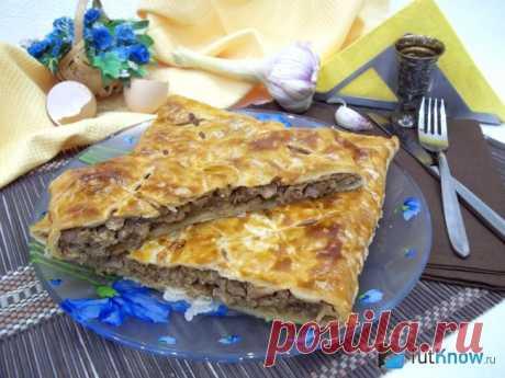 Мясной пирог из замороженного слоеного теста: советы приготовления