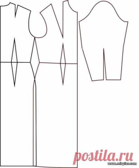 выкройка основа платья скачать бесплатно размеры 34-60 MirPiar.com